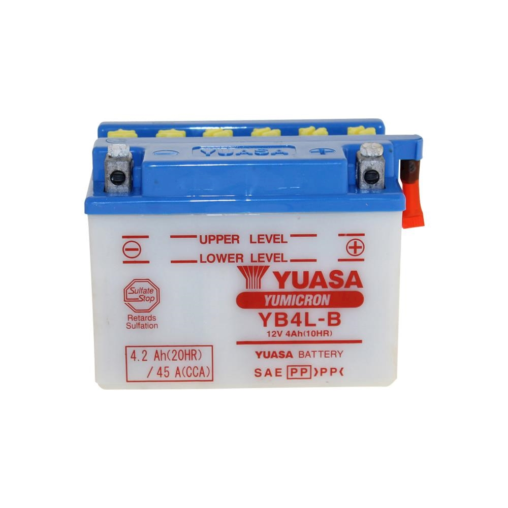 new battery yuasa yb4l b 12v 4ah for mbk cw 50 rs booster. Black Bedroom Furniture Sets. Home Design Ideas