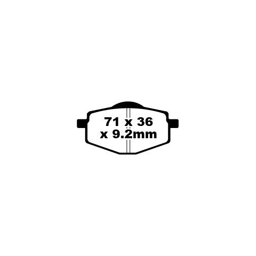 Pastillas-de-Freno-EBC-fa101tt-ESTANDAR-PARA-YAMAHA-DT-50R-3mn-ANOS-bj-89-97