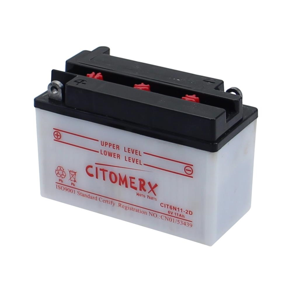 Batterie-6n11-2d-6-V-11ah-Incl-Acide-F-Roller-Hercules-Cv-80-E-cv80e-83-84-neuf