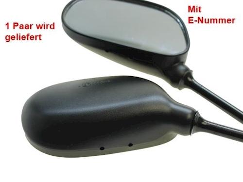 RD Miroir Set rd50 rd80 m10 x 1,25 mm YAMAHA RD 50 Rétroviseur