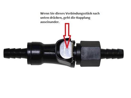 Benzinschlauch Kupplung Schnellverschluss 8 mm für Aprilia Mojito Custom 50 2