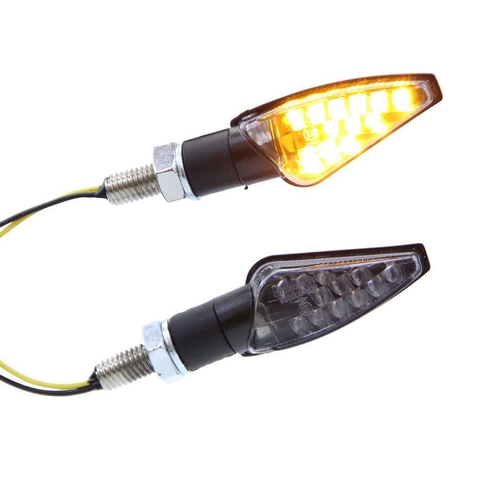 LED Pen Head Blinker Klarglas schwarz Motorrad
