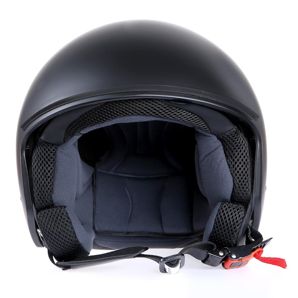 motorradhelm jethelm sturzhelm neu mit visier matt schwarz. Black Bedroom Furniture Sets. Home Design Ideas