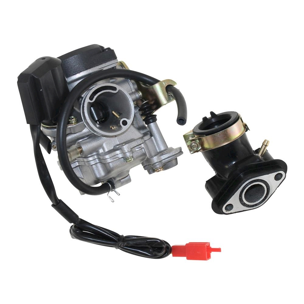 carburettor with e choke and inlet manifold complete for. Black Bedroom Furniture Sets. Home Design Ideas