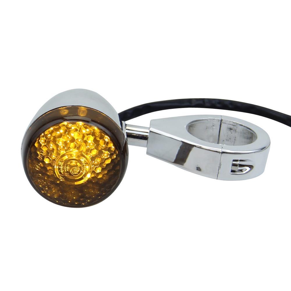 LED-SEGNALE-GIRATA-MOTO-SET-Harvey-CHIARO-bicromato-potassio-per-Harley-Davidson