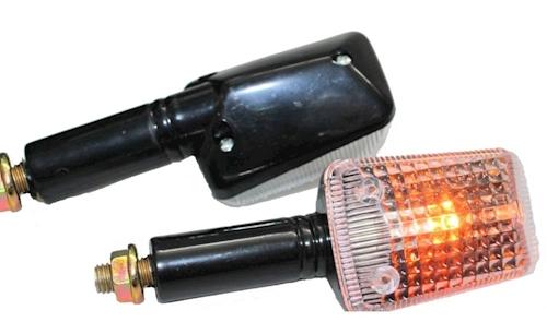 Mini Blinker Set Flood Schwarz Klar E Nummer M8 Für 12v 21w Roller