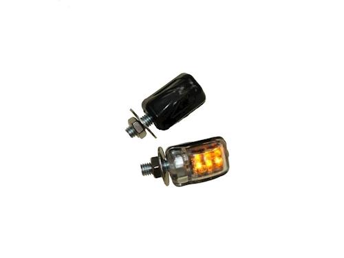 led mini blinker set benni schwarz klar e gepr ft m6 f r. Black Bedroom Furniture Sets. Home Design Ideas