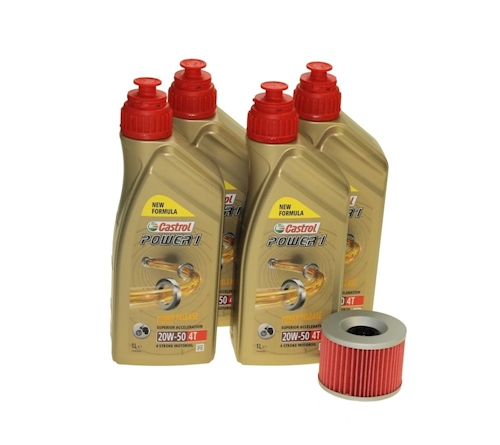 Öl Wechsel Set 4l Castrol 20W-50 mit Ölfilter CIT401 f. Yamaha FZ 750 1FN 85-86