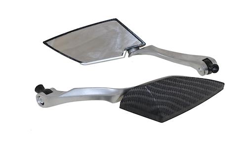 Universalspiegel spiegel carbon m8 f r 12v 21w roller for Spiegel quad