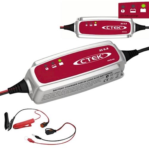 ctek xc 0 8 batterie ladeger t charger 6v 0 8a xc800 f r. Black Bedroom Furniture Sets. Home Design Ideas