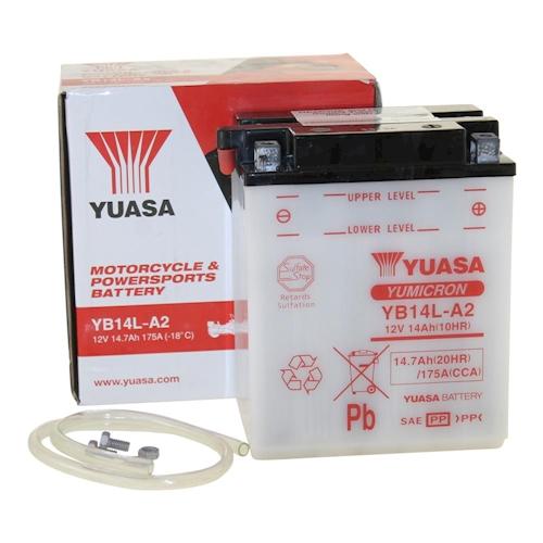 BATTERIA-YUASA-yb14l-a2-12v-14ah-per-HONDA-CB-750-K-FOUR-cb750-anno-1969-1976