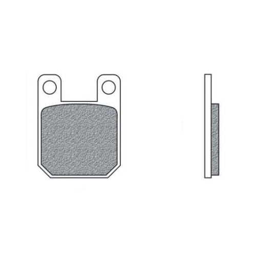 Bremsklötze 85 x 42,5mm, Derbi SENDA 50 R X-TREME DRD 2011-2015 pa. vo. + hi.