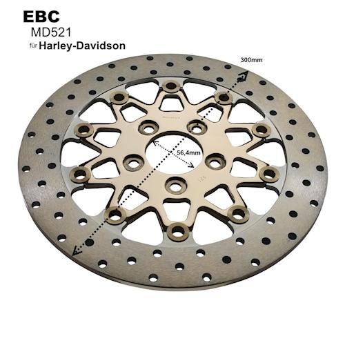 EBC Bremsscheibe MD521 für Harley-Davidson FLH NEU