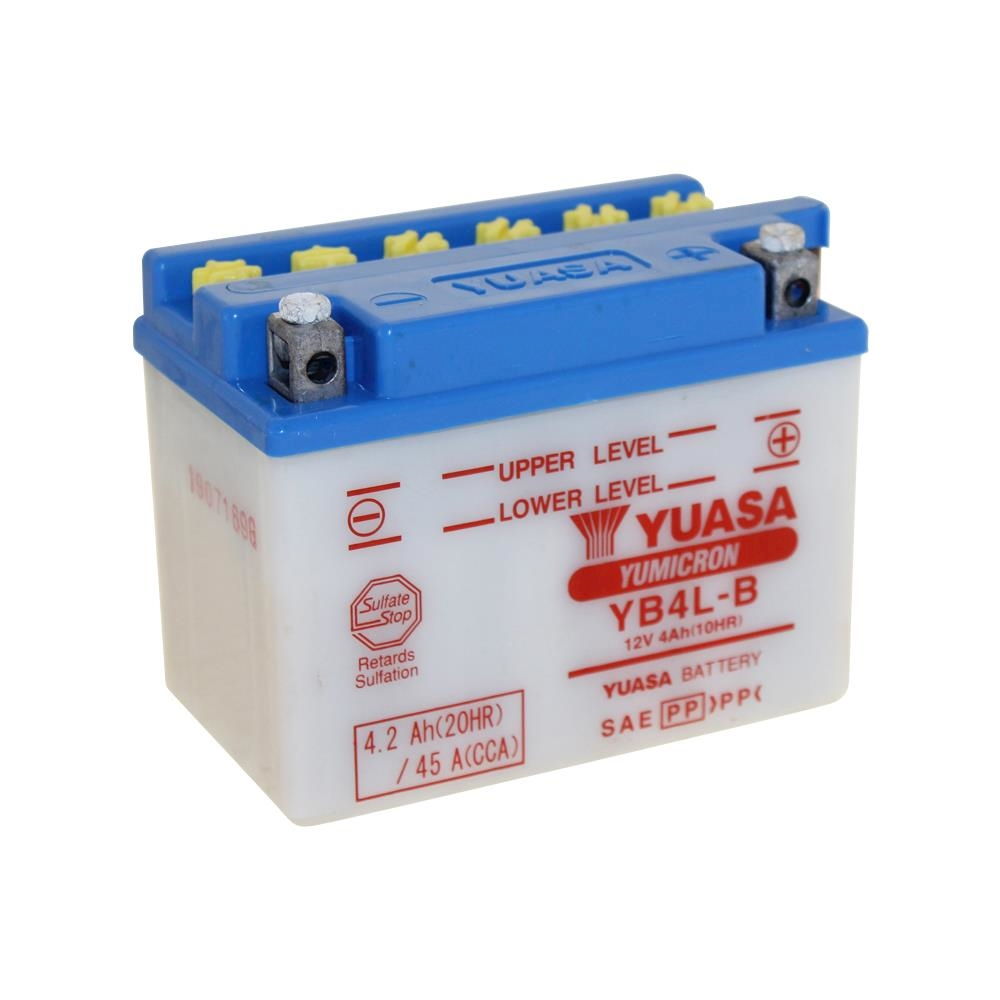 batterie yuasa YB4L-B inkl. säure für tgb 309 50 RS bj. 2001-2005
