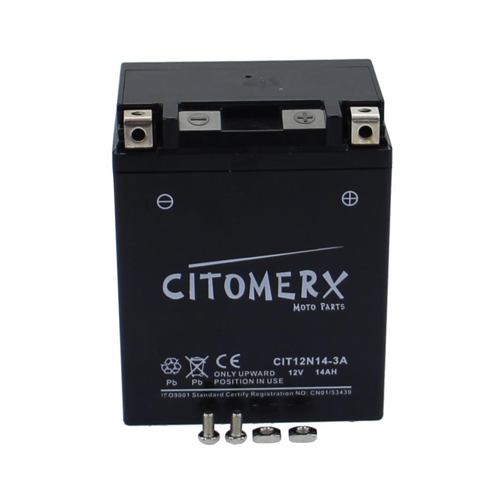 Batteria-Batteria-MOTOCICLETTA-12N14-3A-12V-14Ah-PER-HONDA-CX-500-TIPO-CX500