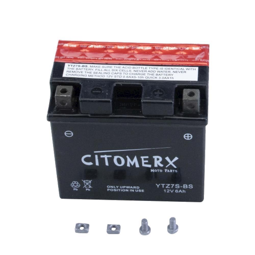 Batteria-TTZ7S-BS-12V-6Ah-ACIDO-PER-GAS-EC-450-FSE-vtrfs4500-e-ANNO-fab-2004