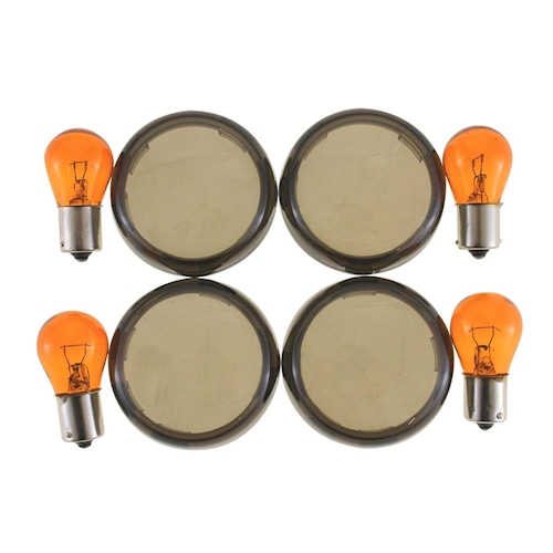 Intermitentes-vasos-set-4-trozo-de-vidrio-intermitente-intermitentes-tintadas-para-Harley-Davidson miniatura 2