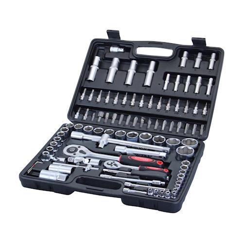Eco Werkzeugkoffer 94-tlg. Steckschlüssel Satz Nußkasten Ratschen Set Torx