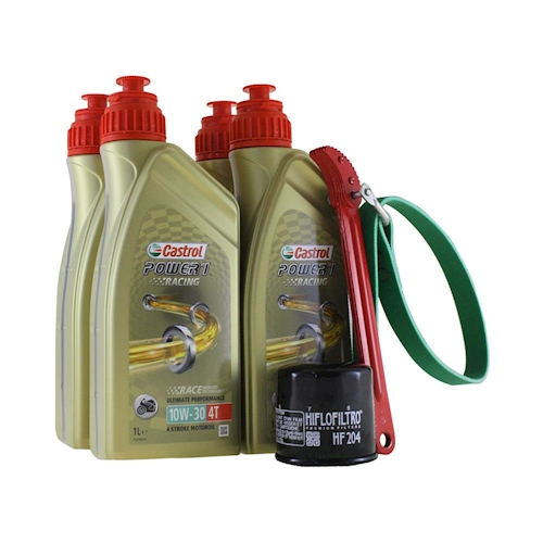 Castrol Oil Change >> Oil Change Kit 4 Liter Castrol Sae 10w 30 Power 1 Racing 4t Incl
