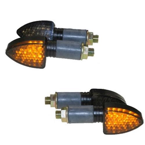 4x-LED-MINI-luz-intermitente-Kit-eLight-Negro-Tintado-M10-PARA