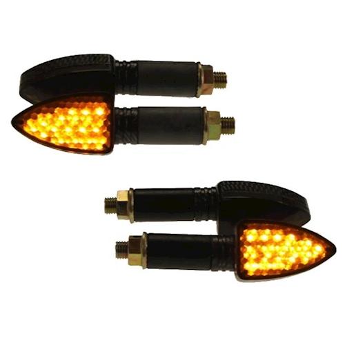 4x-mini-intermitentes-LED-elight-carbon-e-Revisado-m10-12v-para-Honda-CB-500-s-nuevo-deporte