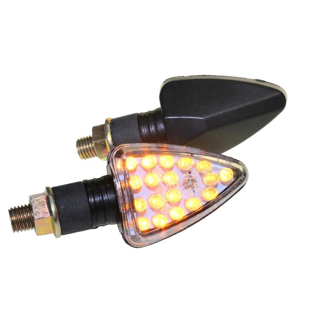 4x Miniblinker LED Arrow schwarz E-Nr M10 12V für Yamaha DT 125 R Typ 4BL NEU