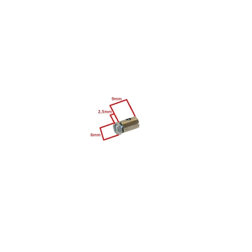 4x Schraubnippel Klemmnippel 6x9mm für Schaltzug Kupplungszug Bremszug NEU