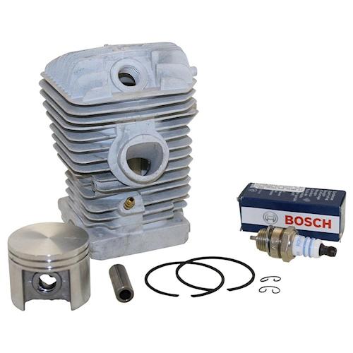 Zylinder Kit Inkl. Bosch Zündkerze Für Stihl 025 Ms250 Ms 250 Kettensäge Neu Um Jeden Preis