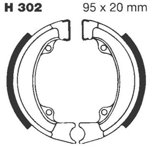 Bremsbacken für Trommelbremse EBC mit Federn Typ H302 f Honda ND 50M Melody neu