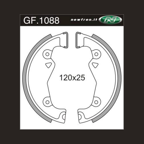 f 1088 Zündapp KS 50 Combinette Falconette NEU NewFren Bremsbacken GF 2 St.