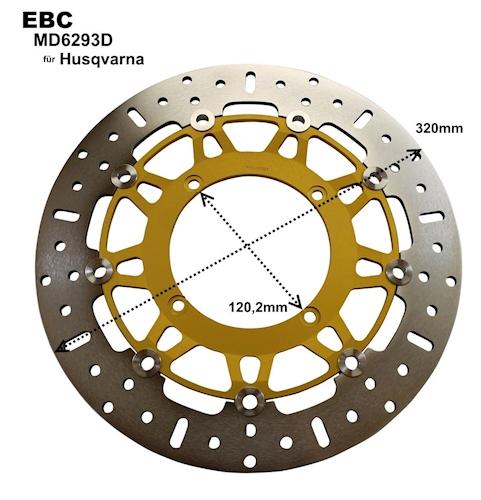 EBC Bremsscheibe MD6293D für Husqvarna SM 450 510 530 570 610 Supermoto NEU