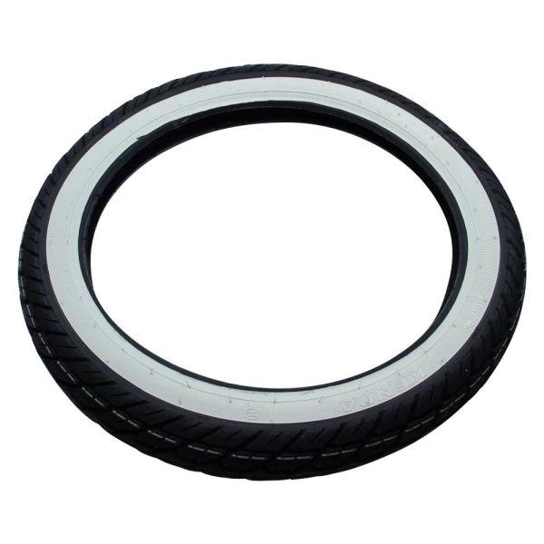 Weißwand Reifen Kenda K418 2.75-17 2,75 x 17 Zoll TT 41P 4PR für Zündapp Moped Mokick Mofa (511-15.200-Weiss-Kenda)