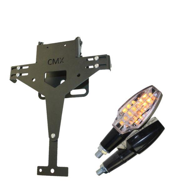 CMX Kennzeichenhalter V1 gelocht mit Blinker SOTO im Set (16536120)