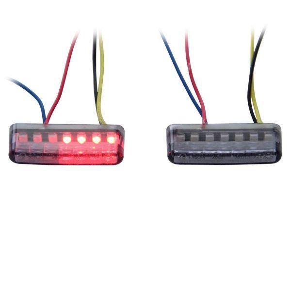 LED Rücklicht Blinker schwarz getönt 12V Motorrad Quad Roller (166192)