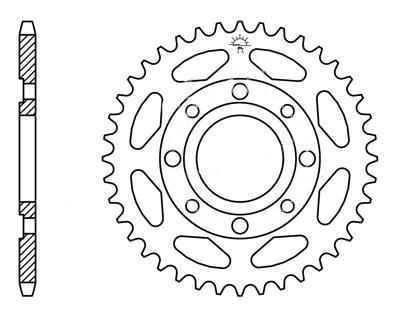 Kettenrad hinten 49 Zähne Teilung 428 Typ R269-49 für Daelim, Honda, Kreidler, Kymco (110571)