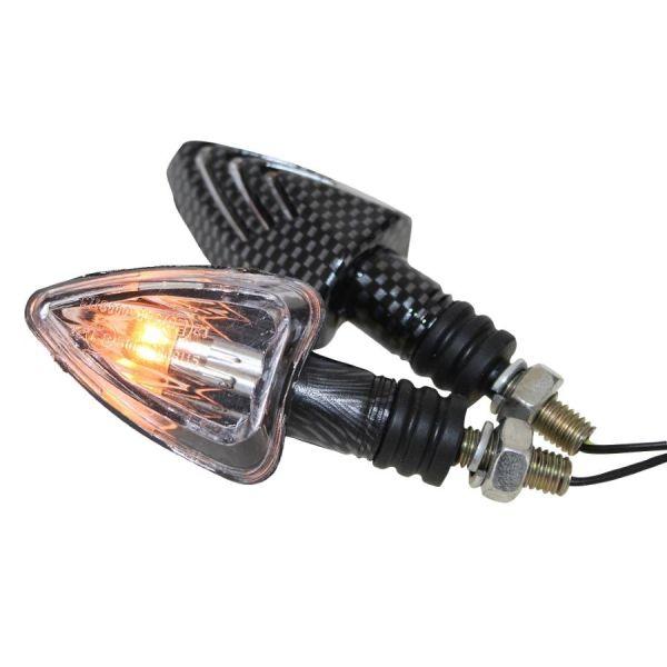 Motorrad Mini Blinker Lennon carbon klar E-geprüft (163676)
