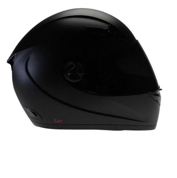 Motorradhelm Integralhelm CMX Blacky schwarz matt mit Visier getönt (16355022)