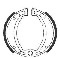 Bremsbacken für Trommelbremse EBC mit Federn Typ Y503G Grooved (681134)
