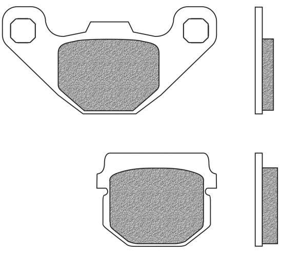 Bremsbeläge vorne Sintermetall Performance S2 Typ FD.0085 für CPI, Kawasaki KMX, Peugeot, PGO, TGB, (720085)