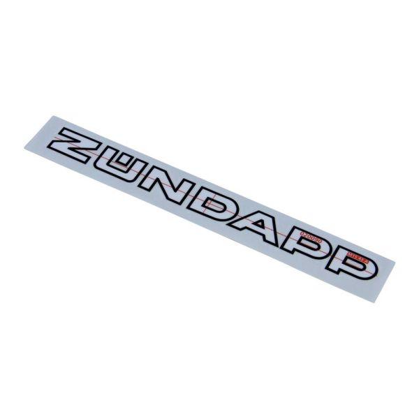 """Aufkleber """"Zündapp"""" 220x20 mm für Zündapp CS GTS GS KS 25 50 80 125 (529-20.139)"""