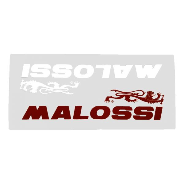 """Aufkleber Set """"Schriftzug Malossi Red & White S"""", 90x45 mm, 1 Set = 2 Stück (165492)"""