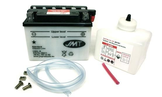 JMT Roller Batterie 12V 4Ah YT4L-B YB4L-B FB4L-B inkl. Säure Rollerbatterie (104895)
