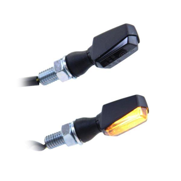 """LED Mini Blinker """"Vision""""  schwarz getönt vorne hinten 12V M8 Motorrad (166251)"""