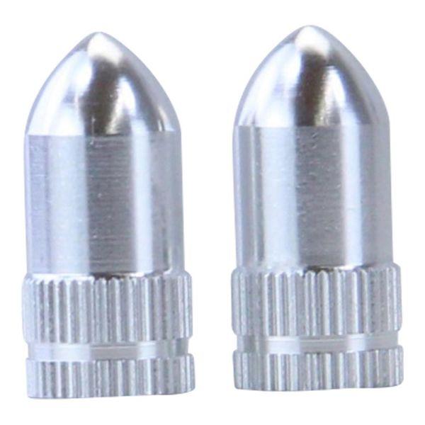 """Reifen Ventilkappen SET """"Spike"""" silber Reifenventil (719476)"""