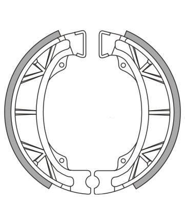 Bremsbacken NewFren Typ GF.1043 (1 Satz a 2 Stück) (801043)