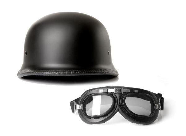 halbschalenhelm chopperhelm brain cap cmx german easy. Black Bedroom Furniture Sets. Home Design Ideas