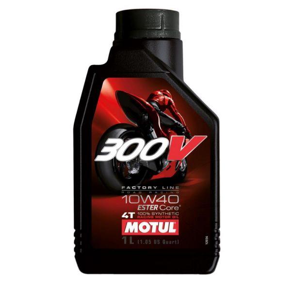 Motul 4-Takt Motorenöl 300V Factory Line Road Racing 4T 10W40 - 1 Liter (961015)