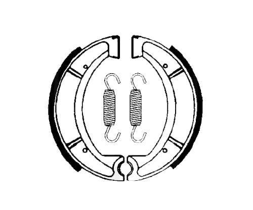 Bremsbeläge, Bremsbacken Lucas MCS955 mit Federn für Yamaha (123466)