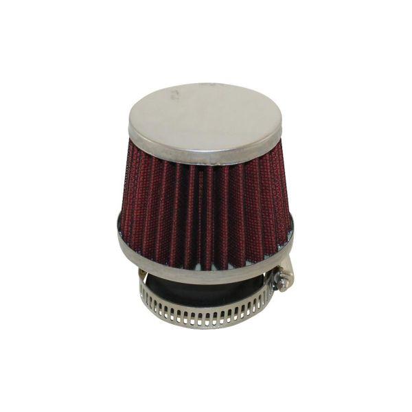 Sport-Luftfilter in Rotschwarz Chrom für Simson S51 SR50 SR80 S50 S70 S53 S83