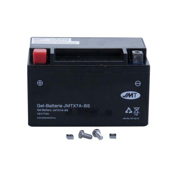 JMT Batterie wartungsfrei YTX7A-BS 12V 6Ah inkl. Säure für Roller (160117)